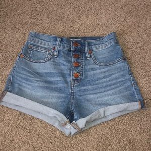 Madewell Hight Waisted Jean Shorts